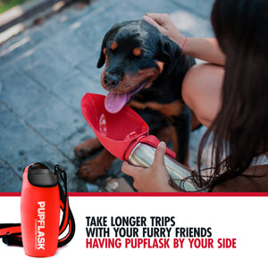 FREE PupFlask Insulated Bottle Sling (27 OZ, Crimson Red)