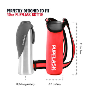 PupFlask Insulated Bottle Sling (40 OZ, Crimson Red)