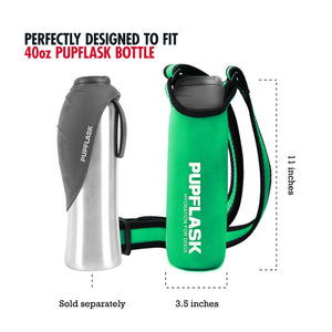 FREE PupFlask Insulated Bottle Sling (40 OZ, Quetzal Green)