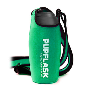FREE PupFlask Insulated Bottle Sling (27 OZ, Quetzal Green)