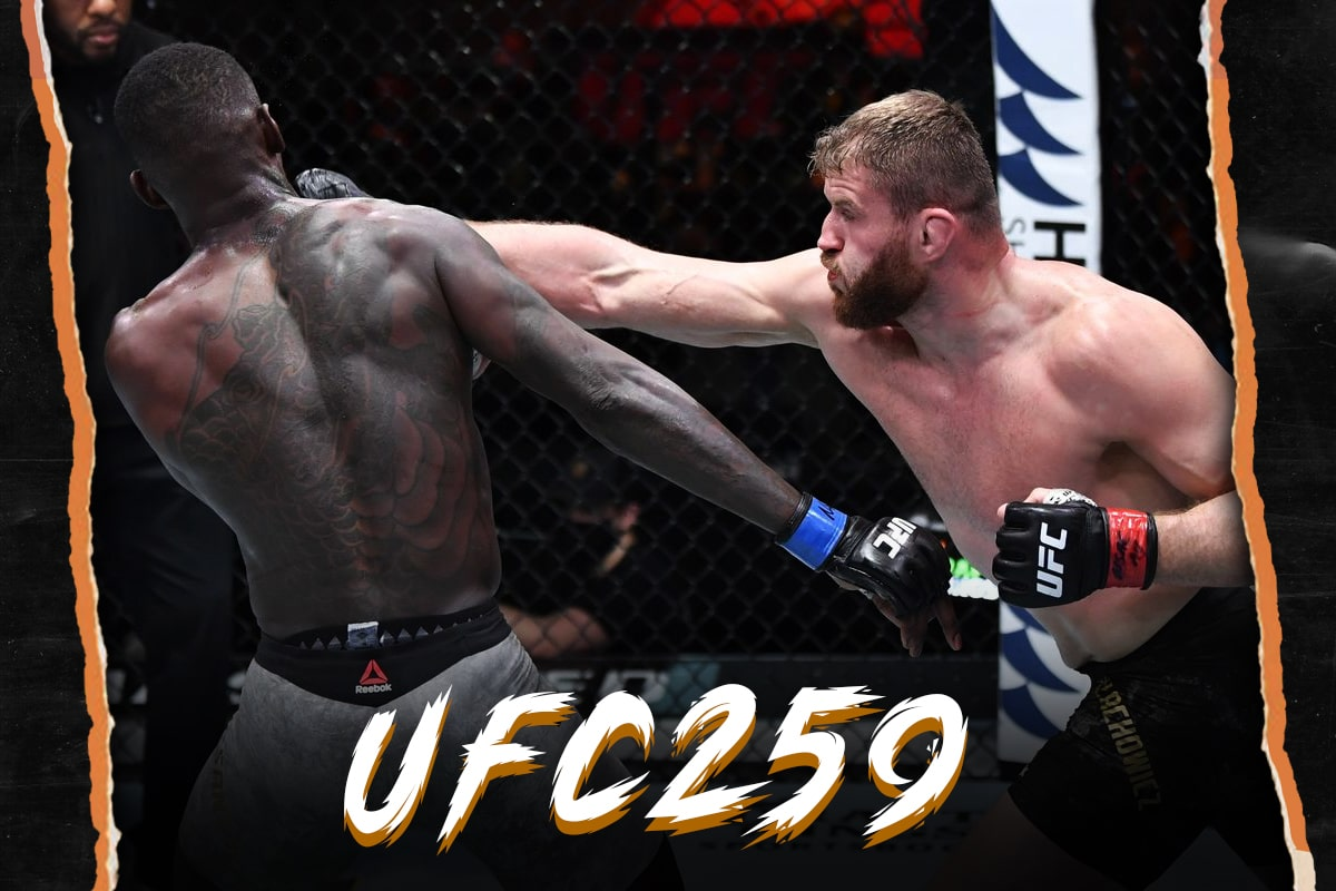 Jan Blachowicz vs Israel Adesanya UFC 259 title fight