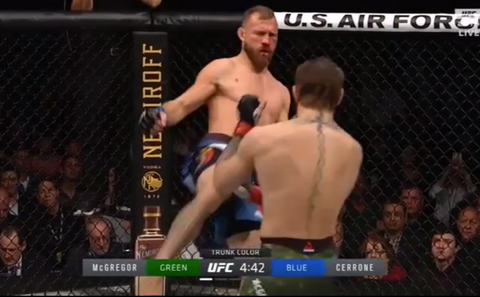 McGregor vs Cerrone Cowboy Highkick UFC 246