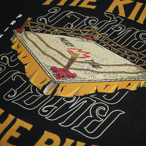 Hoodie Muay Thai The King In The Ring Design Zoom