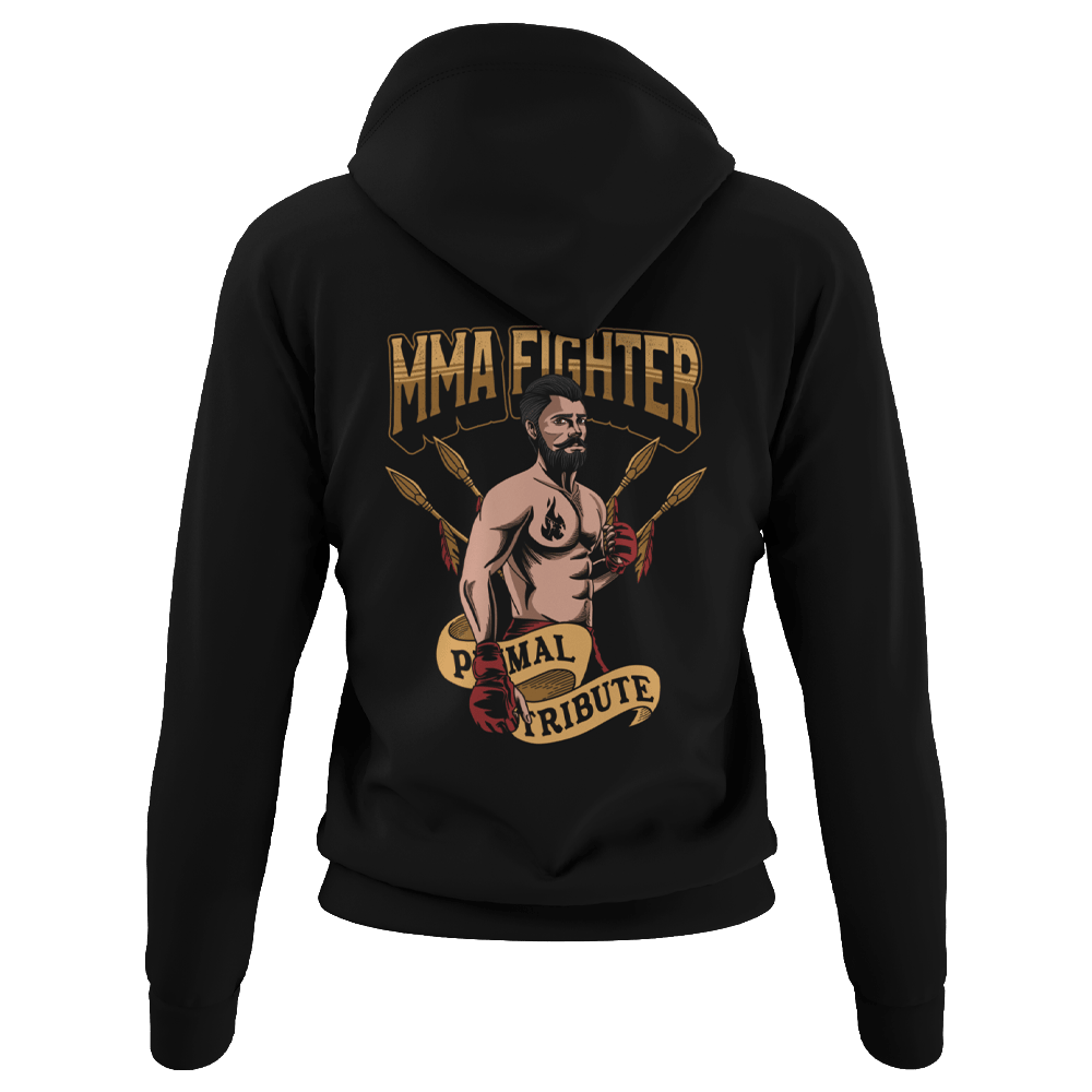 MMA Fighter Hoodie Black