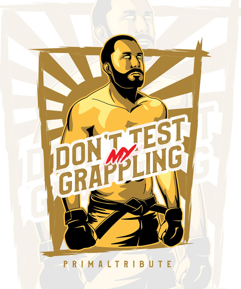 SWEAT 'DON'T TEST MY GRAPPLING' BLANC