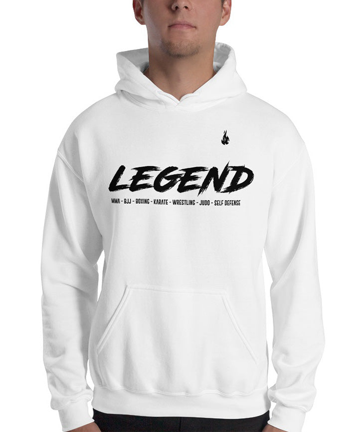 Sweat MMA Legend blanc et noir face