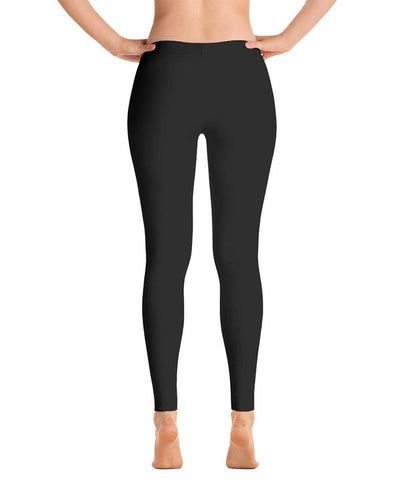 Legging sports de combat reckless noir et blanc de dos