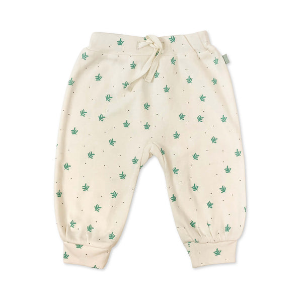 Harem Pants Dotted Leaves
