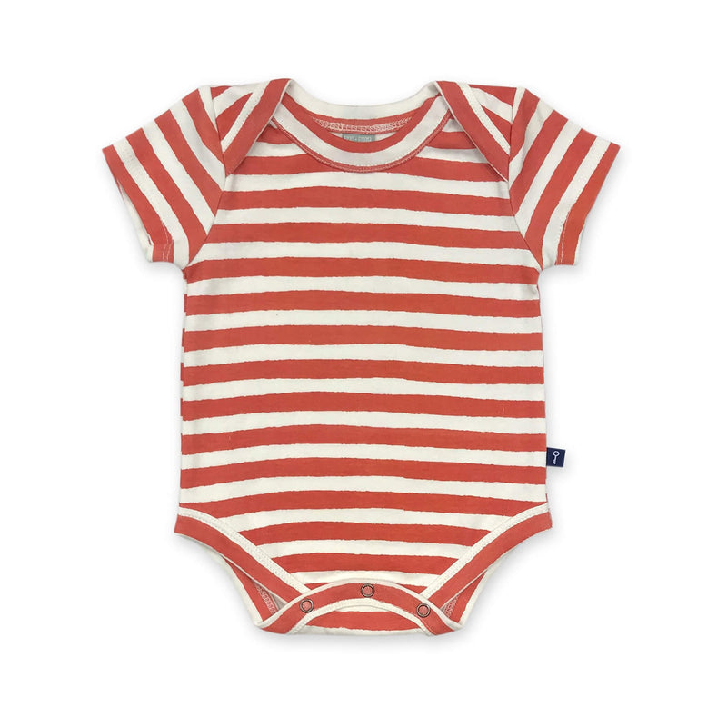 Lap Bodysuit Red & White Stripe