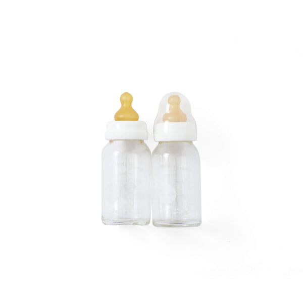 Baby Glass Bottle 4oz 2-pack White