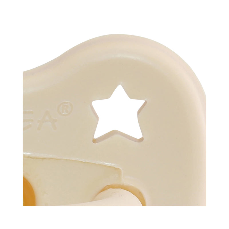 Hevea Pacifier, Orthodontic – Milky White