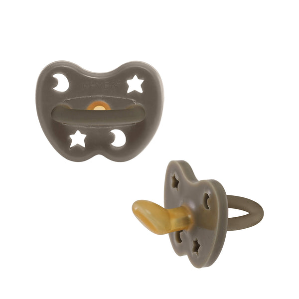 Hevea Pacifier, Orthodontic – Shiitake Grey