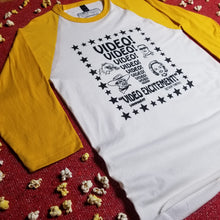 Load image into Gallery viewer, VIDEO EXCITEMENT! mellow yellow raglan - Discount Cemetery