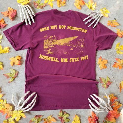 ROSWELL '47 pocket tee burgundy - Discount Cemetery