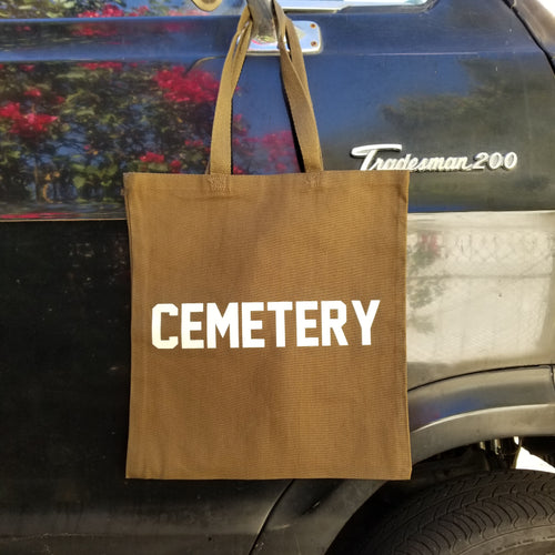 GROUNDSKEEPER tote bag - Discount Cemetery