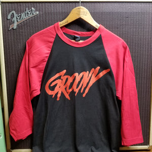 GROOVY blood red raglan - Discount Cemetery