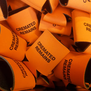 CREMATED REMAINS koozie - Discount Cemetery