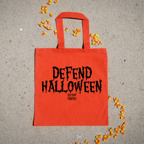 DEFEND HALLOWEEN Tote Bag - Discount Cemetery