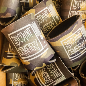 TV CASUALTY koozie - Discount Cemetery