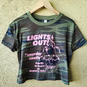 LIGHTS OUT! camo crop - Discount Cemetery