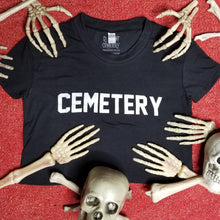 Load image into Gallery viewer, GROUNDSKEEPER jet black crop - Discount Cemetery