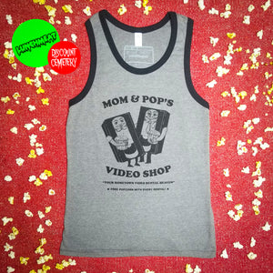 MOM AND POP'S VIDEO tank top - Discount Cemetery