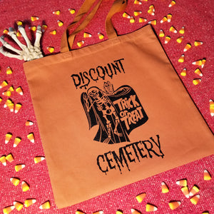 TRICK OR TREAT tote bag *benefits ACLU - Discount Cemetery