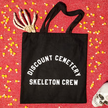 Load image into Gallery viewer, SKELETON CREW Tote Bag - Discount Cemetery