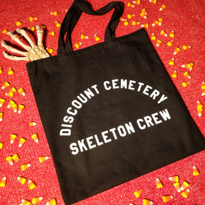 SKELETON CREW Tote Bag - Discount Cemetery