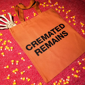 CREMATED REMAINS tote bag - Discount Cemetery