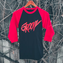 Load image into Gallery viewer, GROOVY blood red raglan - Discount Cemetery