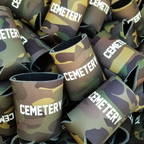 GROUNDSKEEPER camo koozie - Discount Cemetery