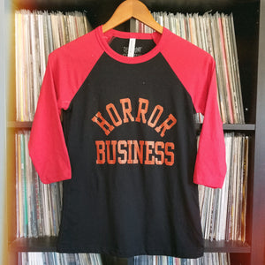 HORROR BUSINESS raglan - Discount Cemetery