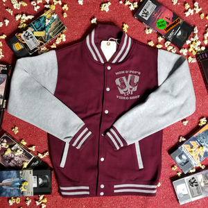 MOM AND POP'S VIDEO varsity jacket - Discount Cemetery