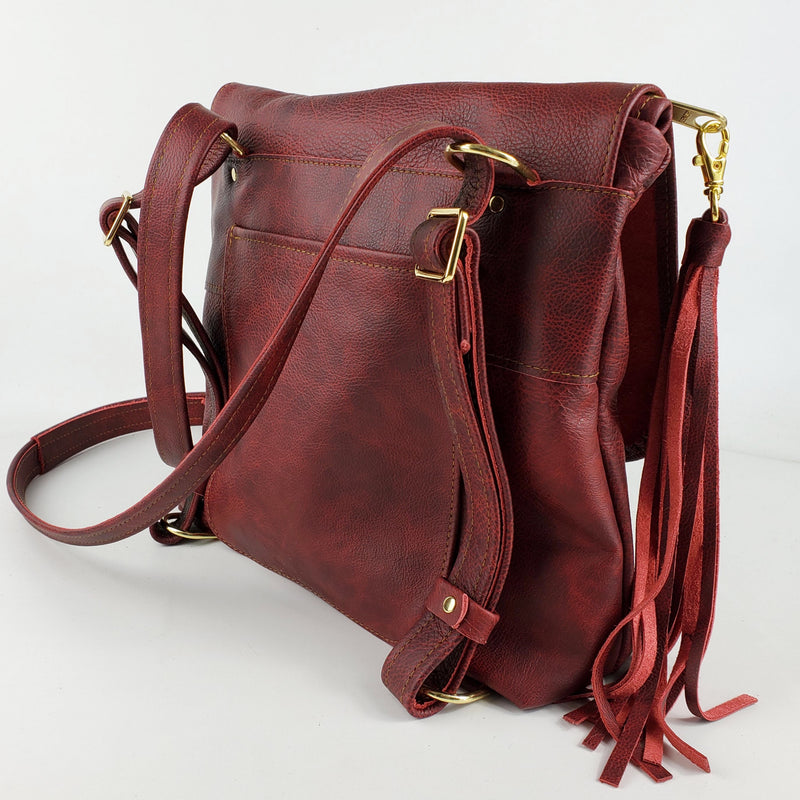 Convertible Backpack - in Oxblood Outlaw