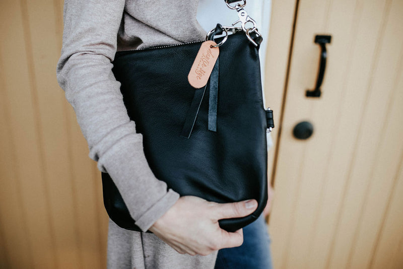 Foldover Satchel - Black