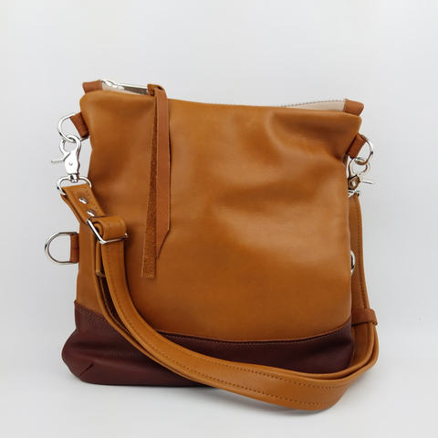 Large Foldover Satchel - in British Tan