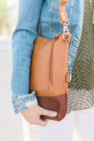 Half Satchel - Distressed Rose Gold