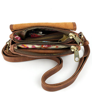 Mini Skye Double-Zip Cross body - Whiskey Outlaw