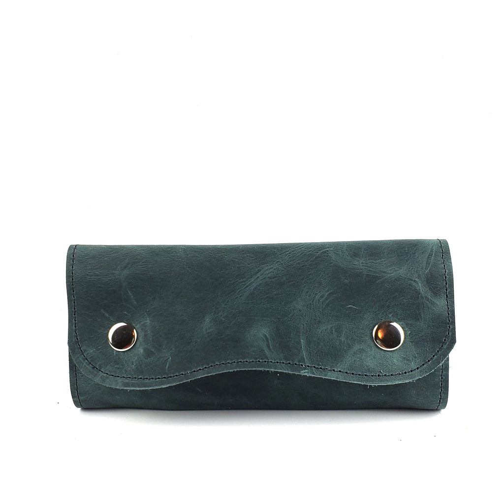 Aqua Metallic Card Wallet