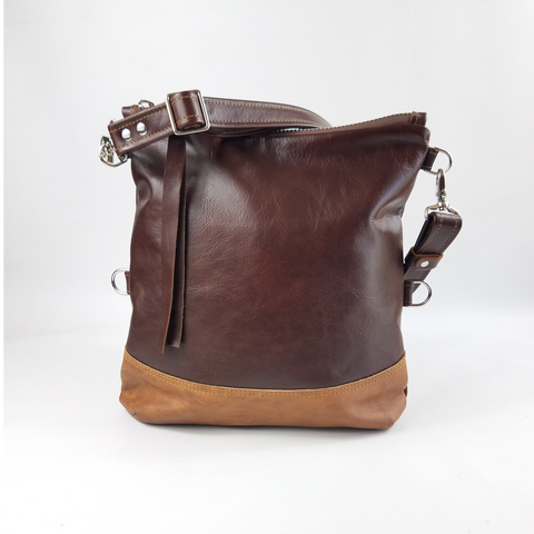 Large Foldover Satchel - British Tan & Cognac