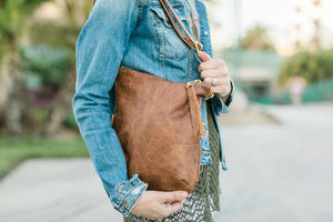 "Foldover Satchel - Whiskey Outlaw ""The Natalie"""