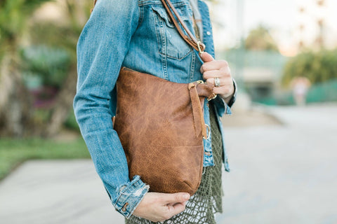 Large Foldover Satchel - in Desert Allure