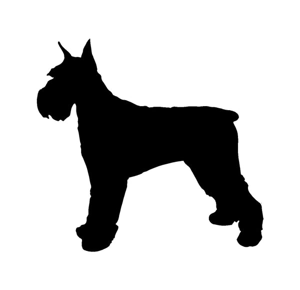 Schnauzer Vinyl Decal Car Window Laptop Standard Schnauzer Silhouette Sticker