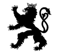 Luxembourg Lion Vinyl Decal  Car Window Laptop Luxembourg symbol Sticker