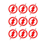 "Flash Symbol Vinyl Decals Phone Laptop Helmet Small 1.5"" Stickers"