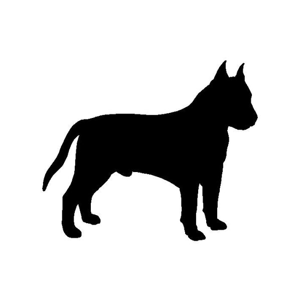 Amstaff American Staffordshire Terrier Vinyl Decal Car Window Laptop Sticker