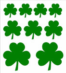 Irish Shamrock Vinyl Decals Green Clover Car Window Laptop Phone Stickers Set