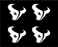 Small Texans Vinyl Decals Phone Laptop Small Stickers Texans Set of 4