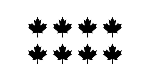 "CANADIAN MAPLE LEAF Vinyl Decals Phone Mirror Laptop Small Canada 1.5"" Stickers"